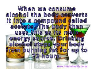 alcohol halts weight loss